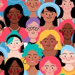 An illustration of diverse faces of different ethnicity, different skin and different bodies.
